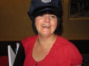 Michaela als Polizistin
